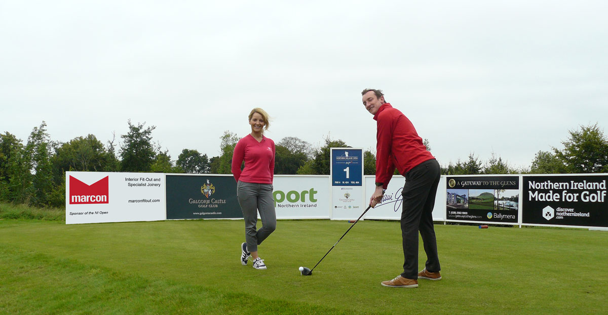 Marcon Fit-Out tees off sponsorship of NI Open at Galgorm Castle