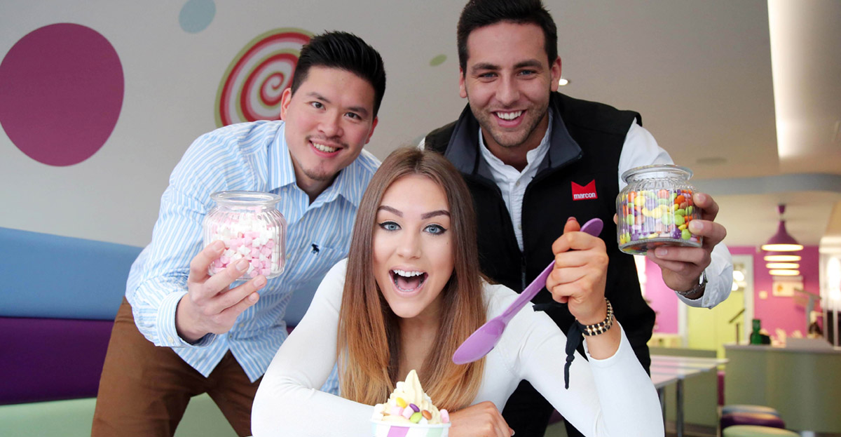 Marcon helps launch new froyo brand in Belfast