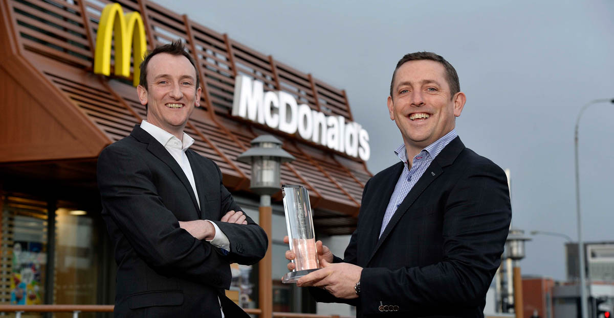 McDonald's serves up top supplier award to Marcon Fit-Out