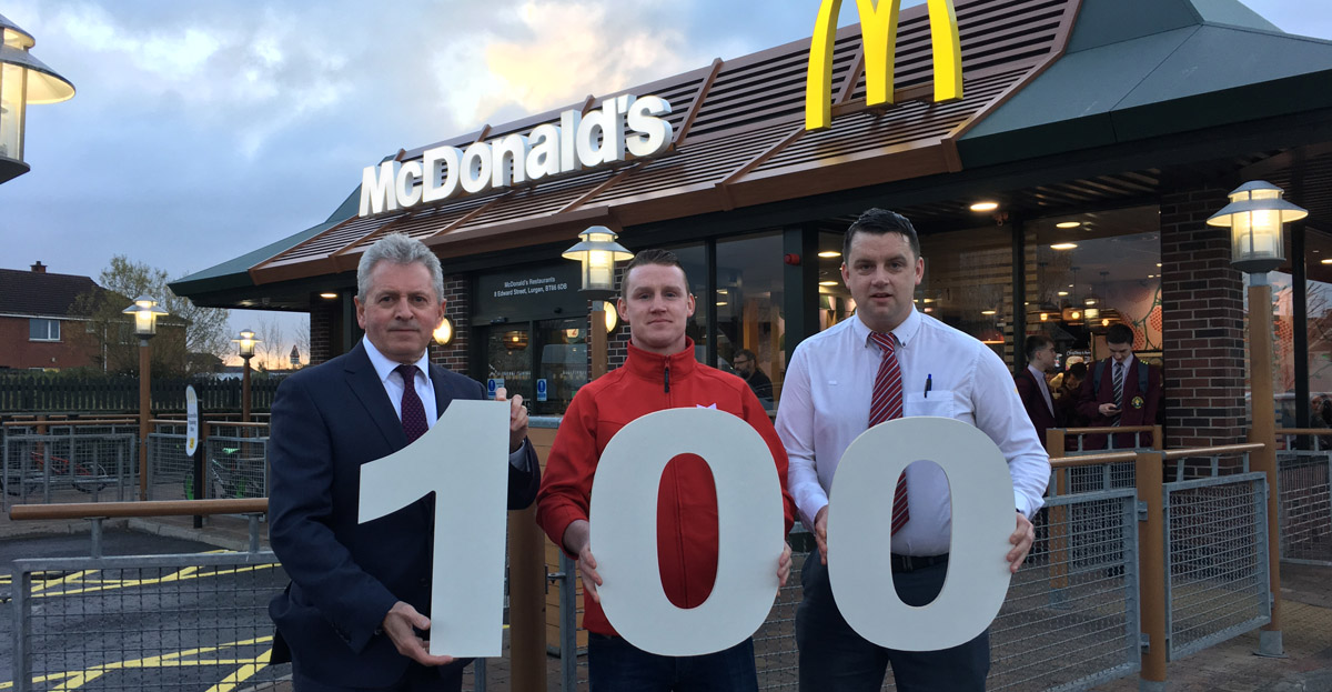 "Marcon completes 100th ""Experience of the Future"" McDonald's restaurant"