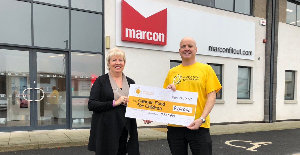 Marcon staff raise £1,000 for local cancer charity