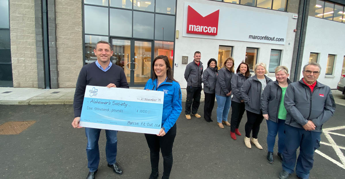 Marcon staff put their best foot forward in support of the Alzheimer's Society.