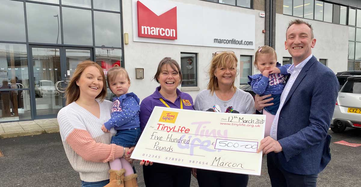 Marcon staff fundraise for Northern Ireland's TinyLife Charity