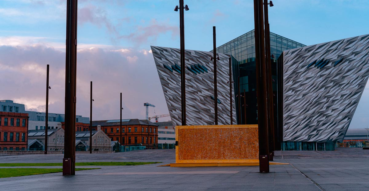 "Marcon builds ""Disappearing Wall"" at the famous Titanic Slipways"