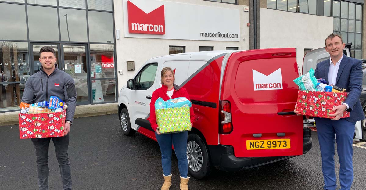 Marcon employees collect for Christmas foodbank