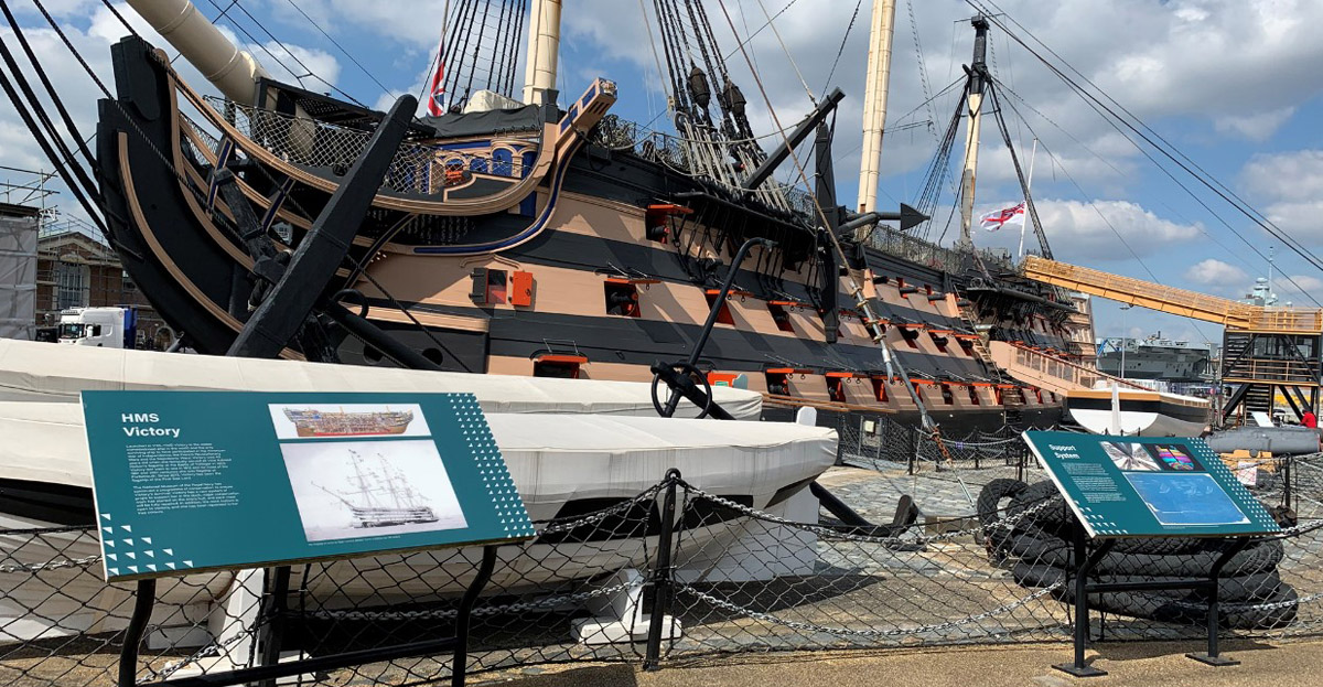 Marcon and Haley Sharpe Design celebrate HMS Victory Gallery opening.